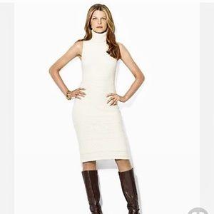 EUC Victoria's Secret White turtleneck dress